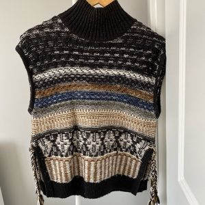 MADEWELL slvless turtleneck with side ties